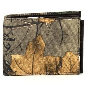REALTREE RFID Bifold Wallet With Center Flap BROWN